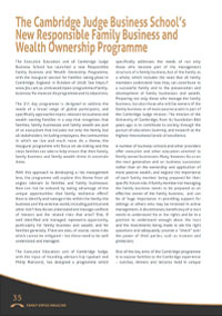 Family Office Magazine, Spring Edition 2018