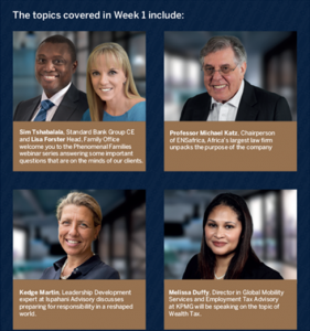 Presenters of week 1 event - Phenomenal Family Office series