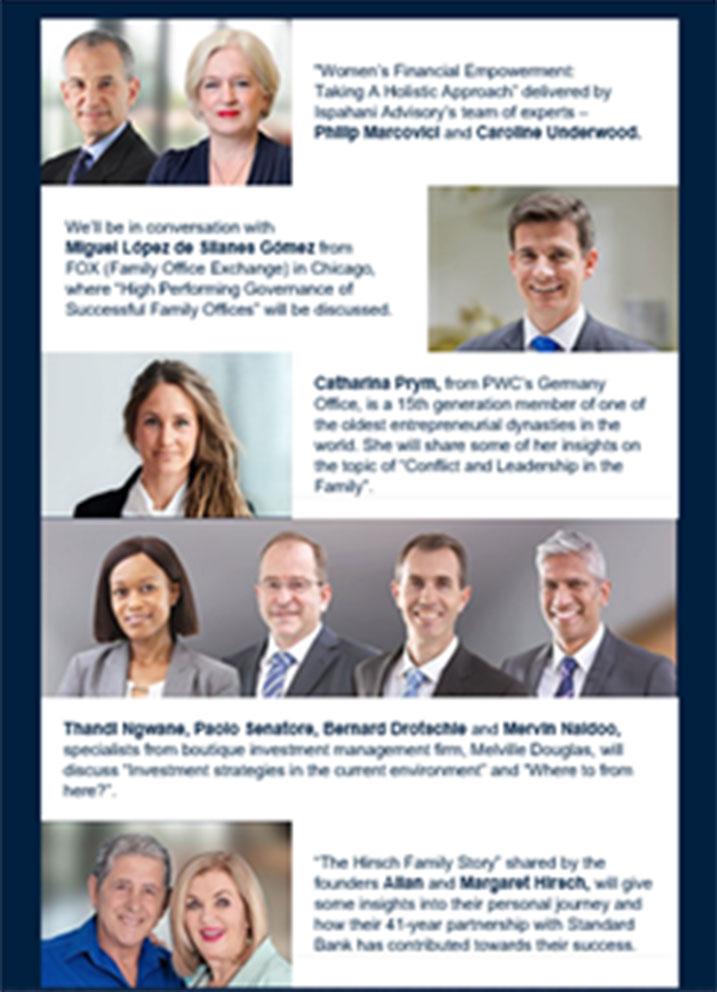 presenters of 3 November webinar